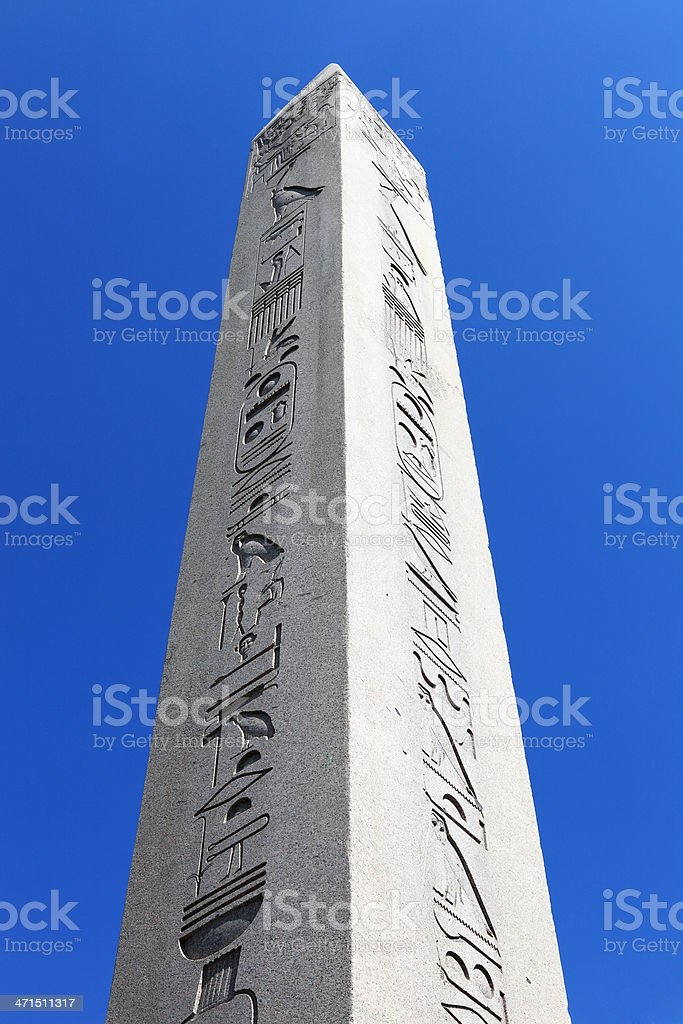 The Obelisk of Theodosius stock photo