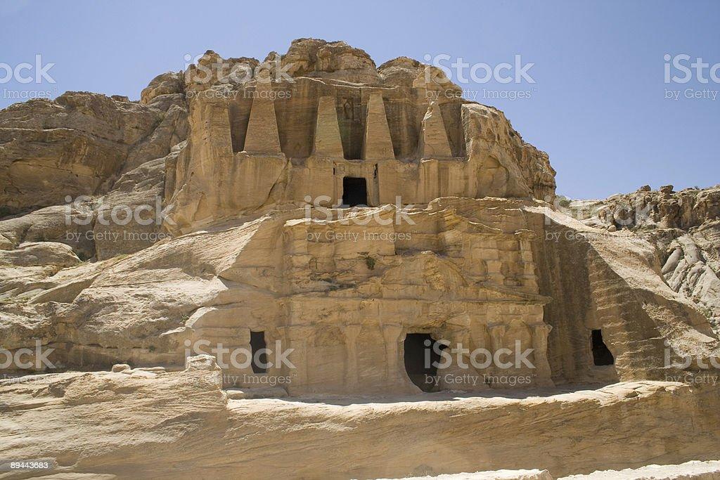 The Obelisk Tomb - Petra, Jordan royalty-free stock photo