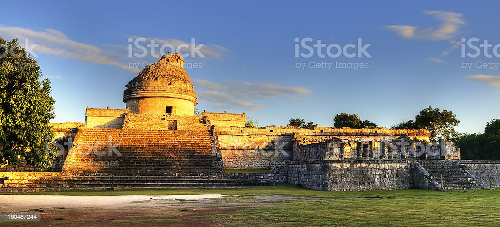 The observatory at Chichen Itza, royalty-free stock photo