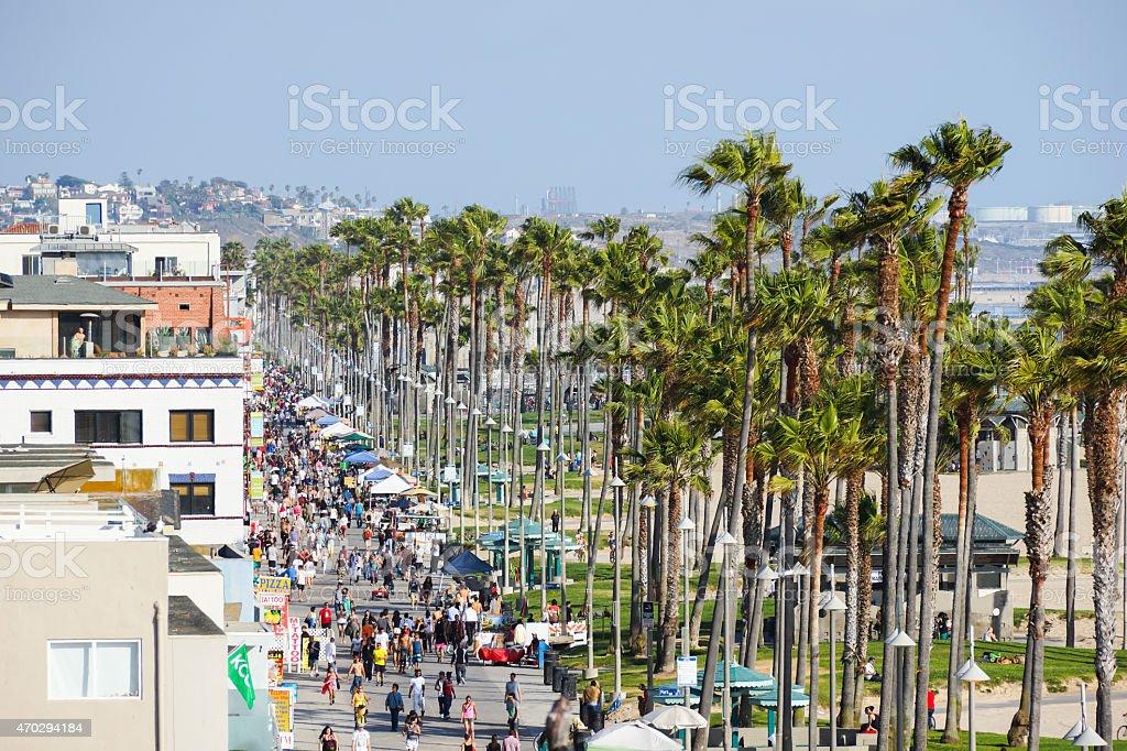 The Ocean Boardwalk at Venice Beach stock photo