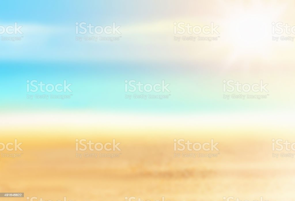 The ocean seascape with blurred panning motion. stock photo