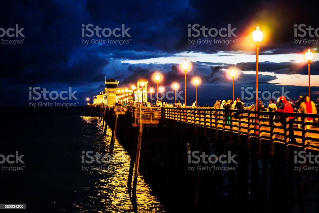 The Oceanside Pier - Oceanside, California. stock photo