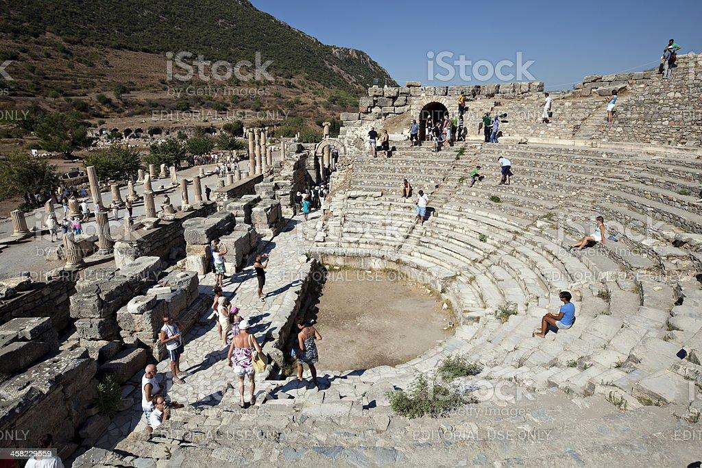 The Odeion, Ephesus, Izmir, Turkey stock photo