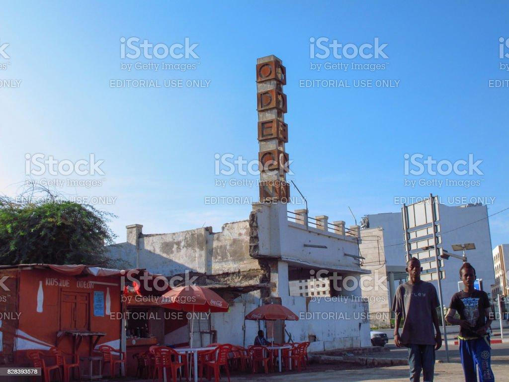 The ODEON cinema in Djibouti City, Djibouti stock photo