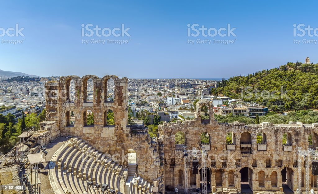 The Odeon of Herodes Atticus, Athens, Greece stock photo