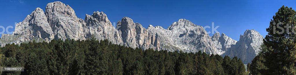 이 Odle, Dolomites-이탈리아 royalty-free 스톡 사진