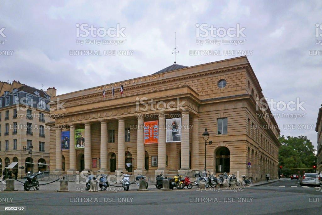 The Odéon-Théâtre de l'Europe in Paris royalty-free stock photo