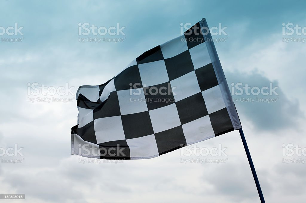 The of the starting and ending of a race stock photo