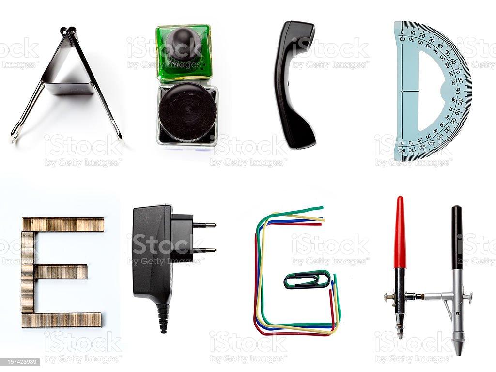 XXXL la letra del alfabeto de oficina - foto de stock