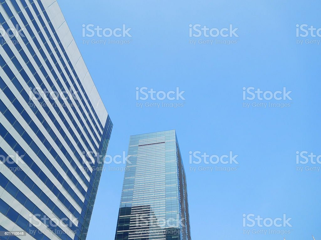 The office buildings under the blue sky stock photo