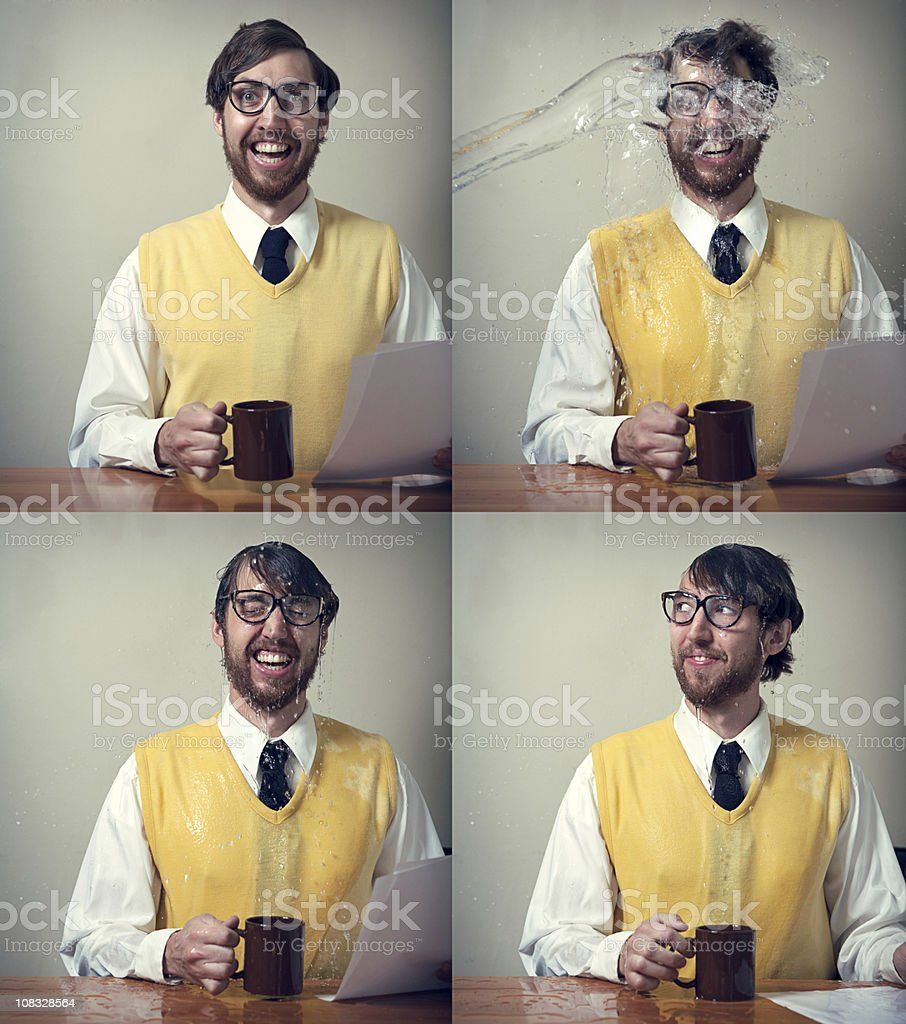 The Office Water Incident royalty-free stock photo