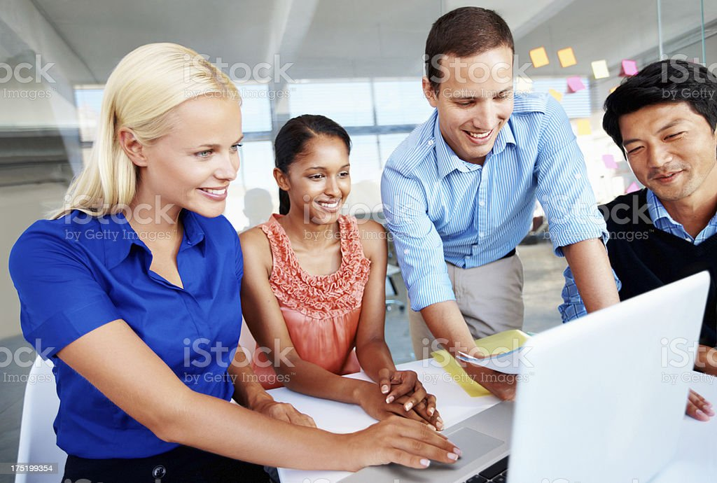 The office's problem solving team royalty-free stock photo