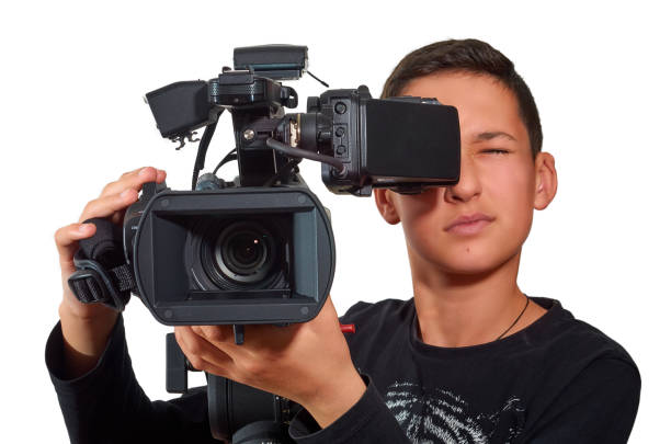 The offspring in the film industry. stock photo