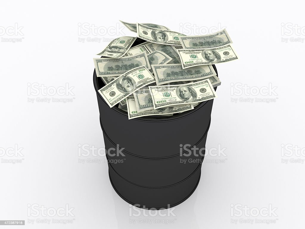 The Oil İndustry Money  and Economy Triangle stock photo