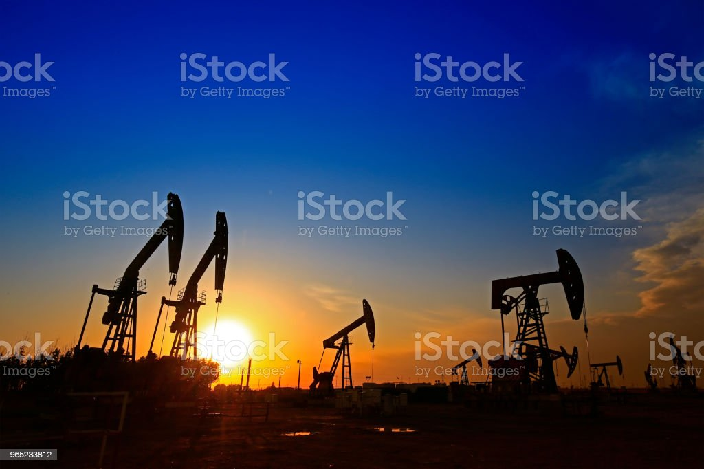 The oil pump, industrial equipment royalty-free stock photo