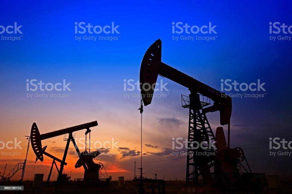 The oil pump, industrial equipment zbiór zdjęć royalty-free