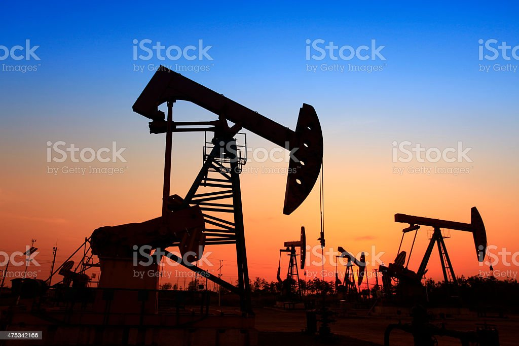 The oil pump stock photo