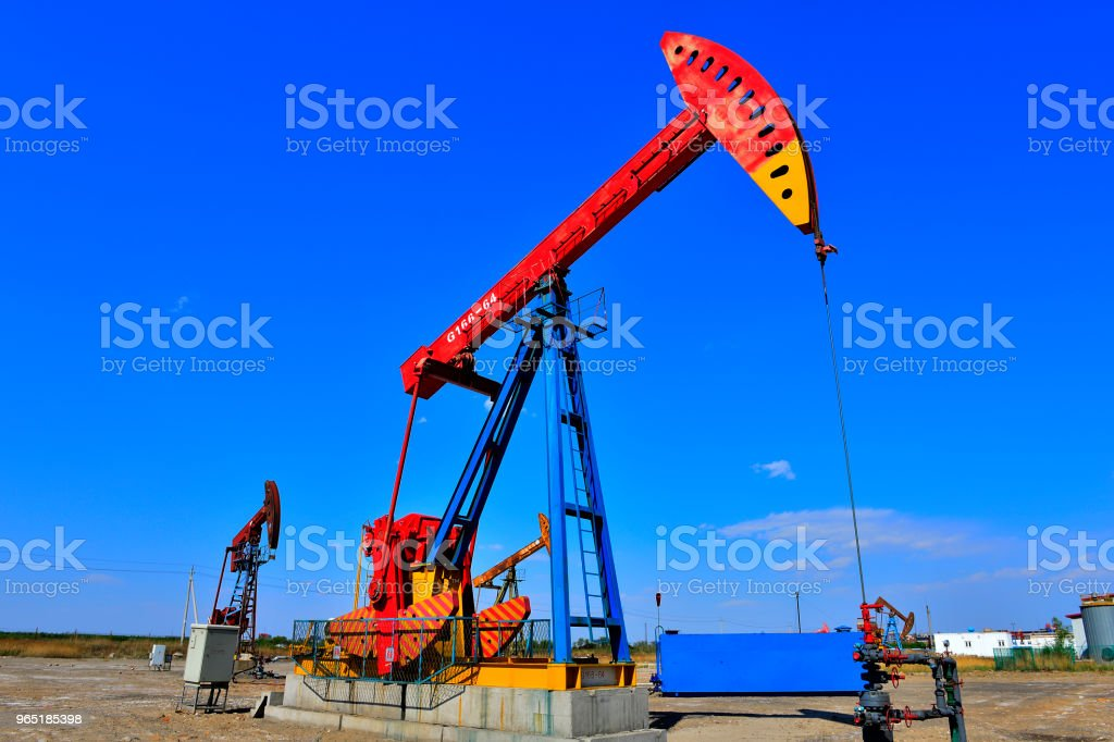 The oil pump royalty-free stock photo