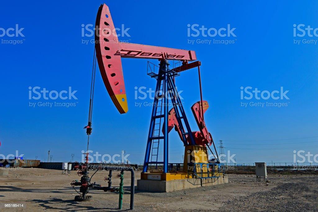 The oil pump zbiór zdjęć royalty-free