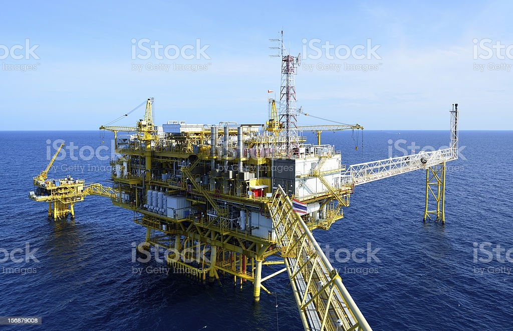 The oil rig. stock photo
