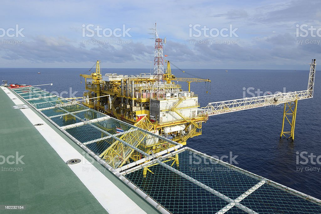 The oil rig. royalty-free stock photo