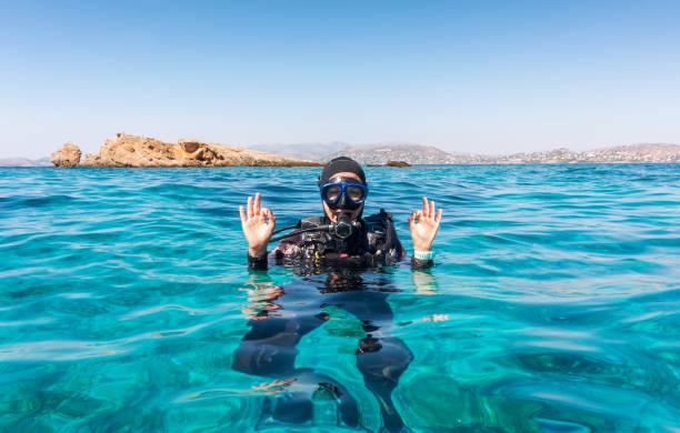 L'OK signer par un plongeur femelle - Photo