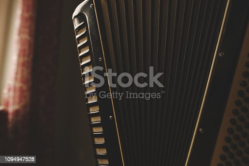 Old, Accordion, music, vintage,