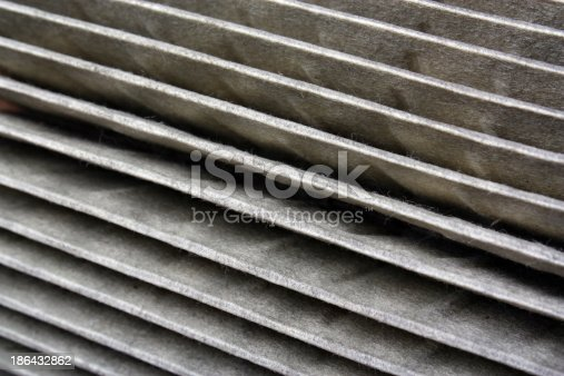 istock The old air filter 186432862