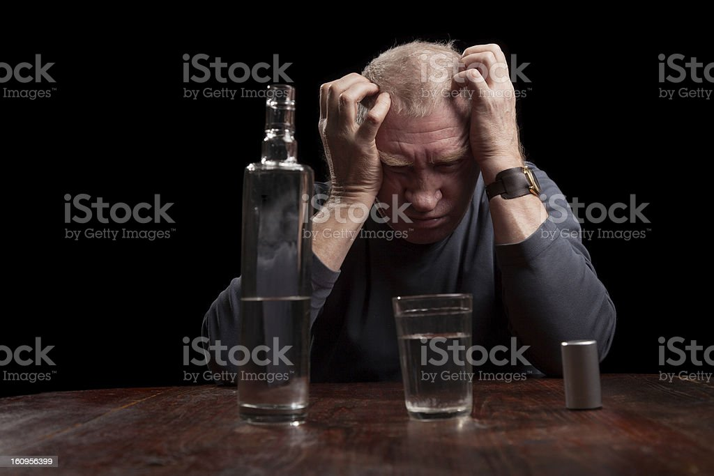 The old alcoholic royalty-free stock photo