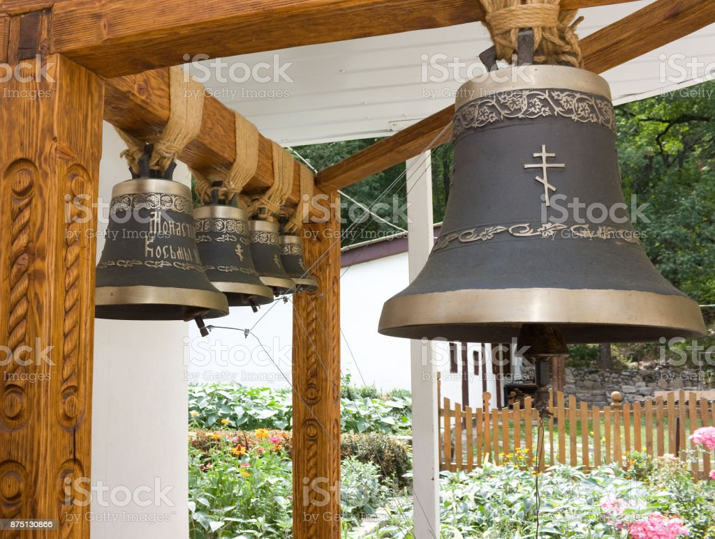 The old bell in an Orthodox monastery. stock photo