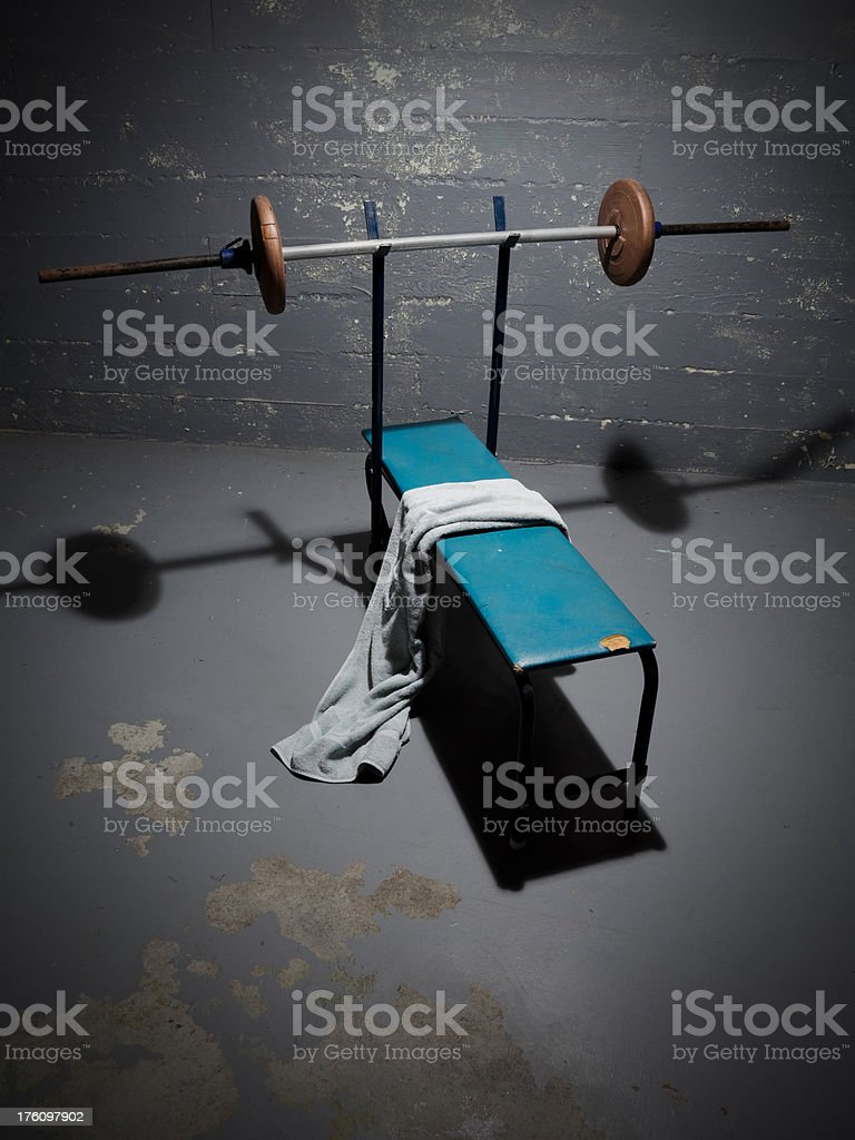 The Old Bench Press stock photo