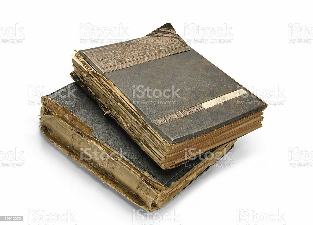 Das alte Buch mit einer Gravur, isoliert auf weißem Hintergrund Lizenzfreies stock-foto