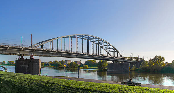 The old bridge over the river Rhine of Arnhem.​​​ foto