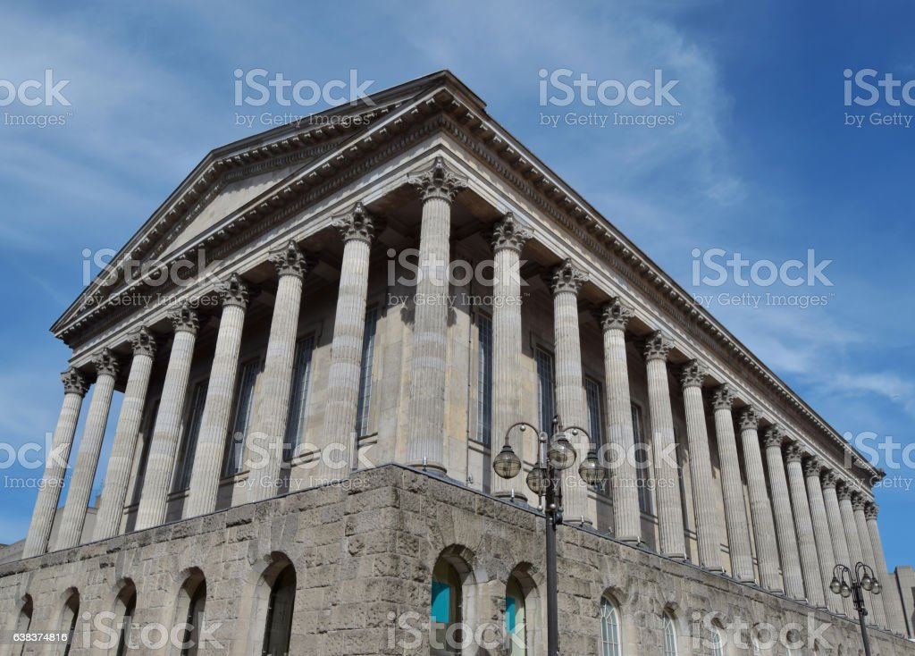 The old building in Birmingham city center stock photo