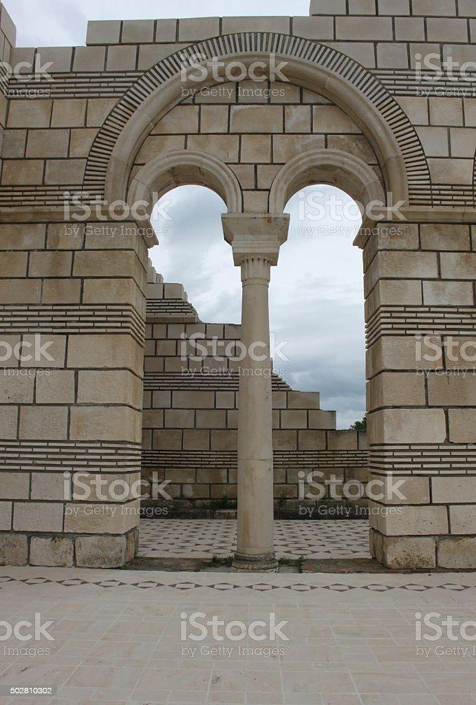 The old Bulgarian capital Pliska stock photo