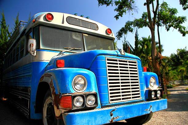 stary autobus - back to school zdjęcia i obrazy z banku zdjęć