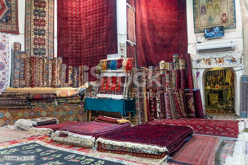 The old carpet market in Bukhara