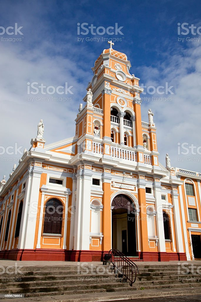 The old cathedral in Granada stock photo