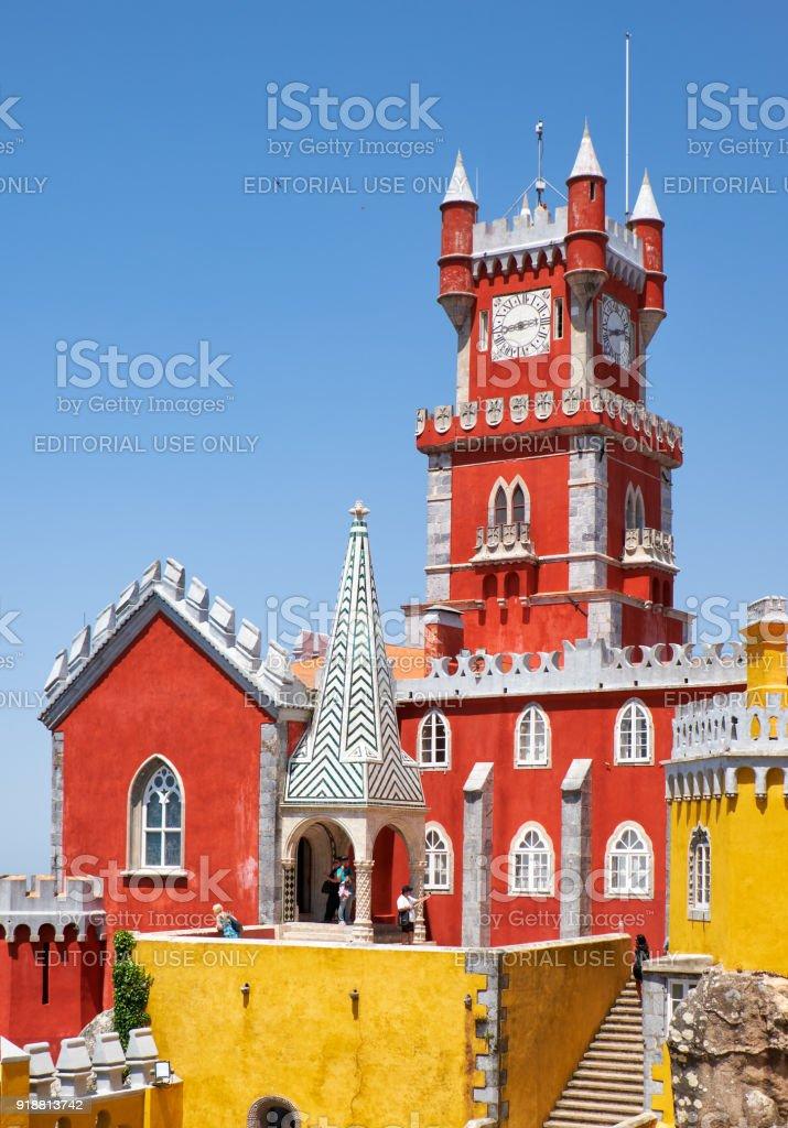 Die alte Kapelle und Glockenturm der Pena-Palast. Sintra. Portugal – Foto