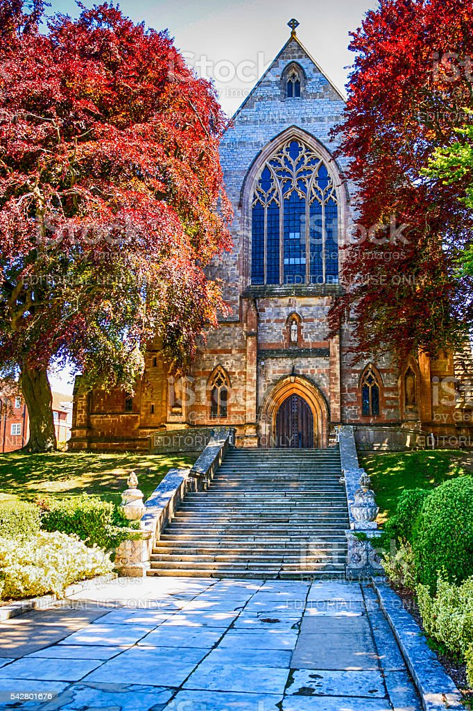 The old Chapel at Marlborough College Wiltshire stock photo