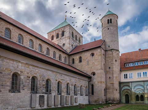 The old Church of St. Michael in  city Hildesheim, Germany