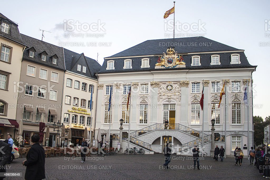 The Old City Hall in Bonn royalty-free stock photo