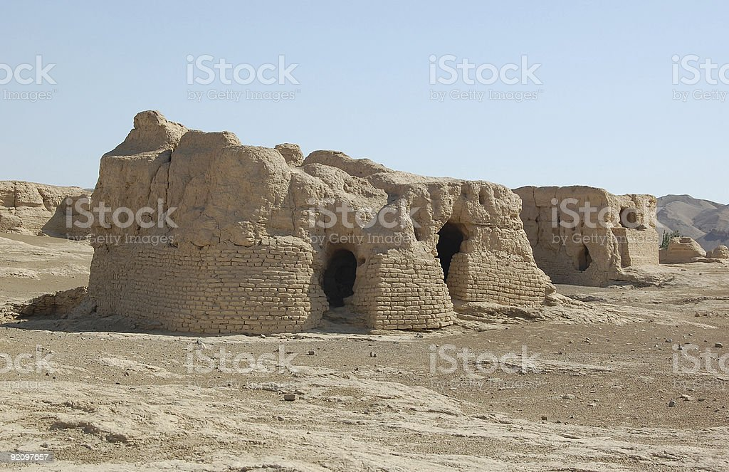 the old city is now a ruin royalty-free stock photo