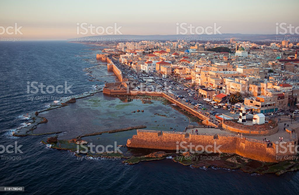 The old city of Akko, Israel. stock photo