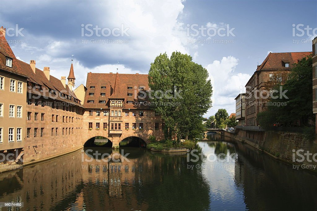 The old city of Nuernberg royalty-free stock photo