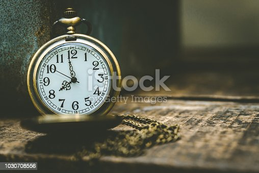 1030708556 istock photo The old clock necklace on wooden 1030708556