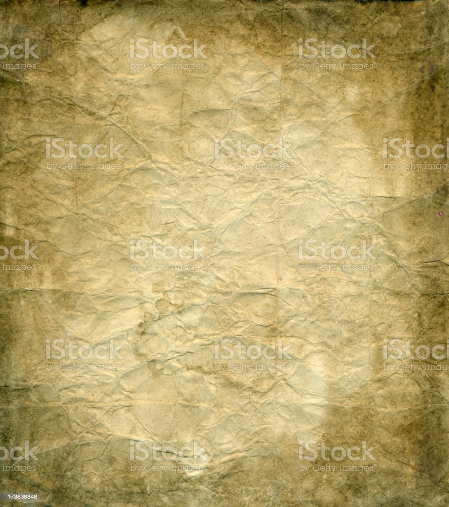 The old crumpled paper royalty-free stock photo