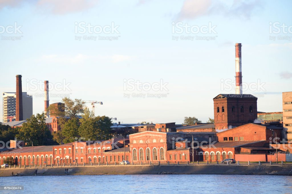 The old factory building, St.Petersburg. royalty-free stock photo