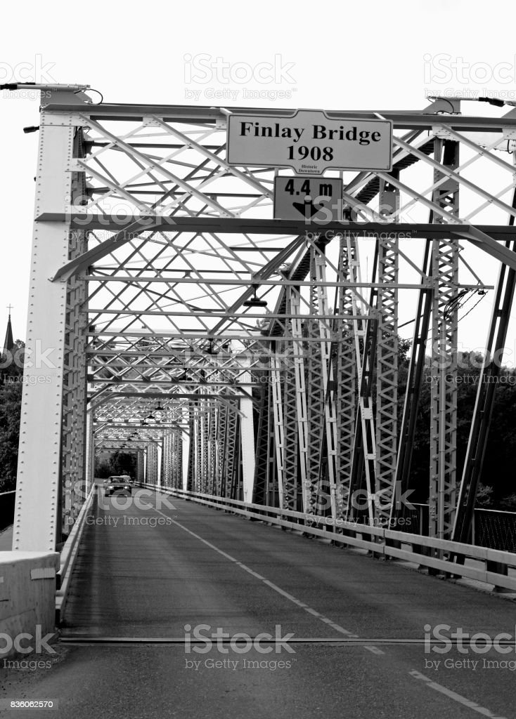 The Old Finlay Bridge Medicine Hat Alberta Today stock photo