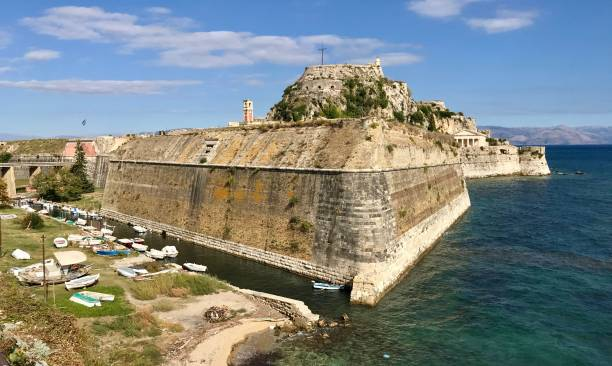 The Old Fort in Corfu, Greece stock photo
